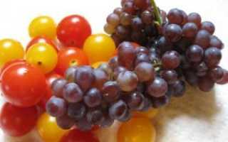 Помидоры с виноградом консервированные в литровых банках